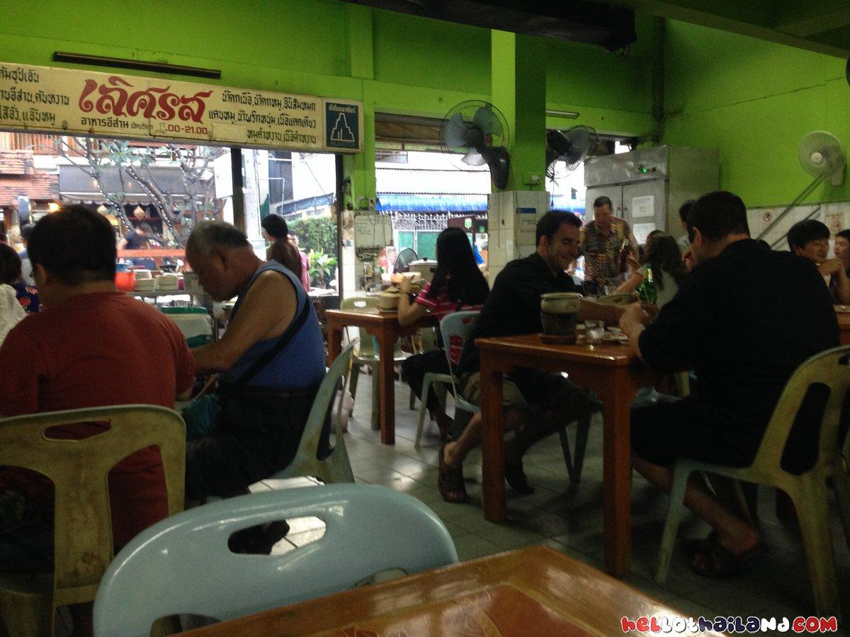 lert Ros restaurant Chiang Mai Inside