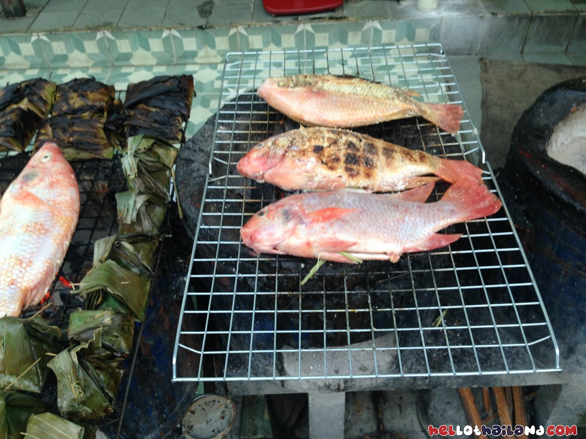 lert Ros restaurant Chiang Mai Fish Grilled