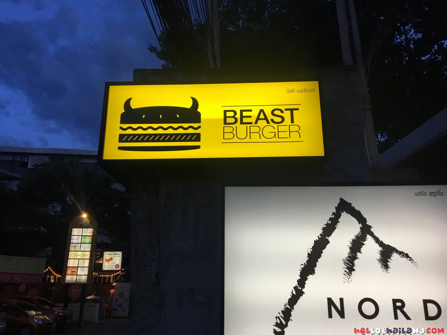 Beast Burger Chiang Mai Sign