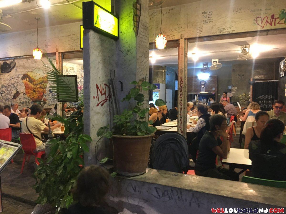 Outside Lemongrass Thai Restaurant Chiang Mai