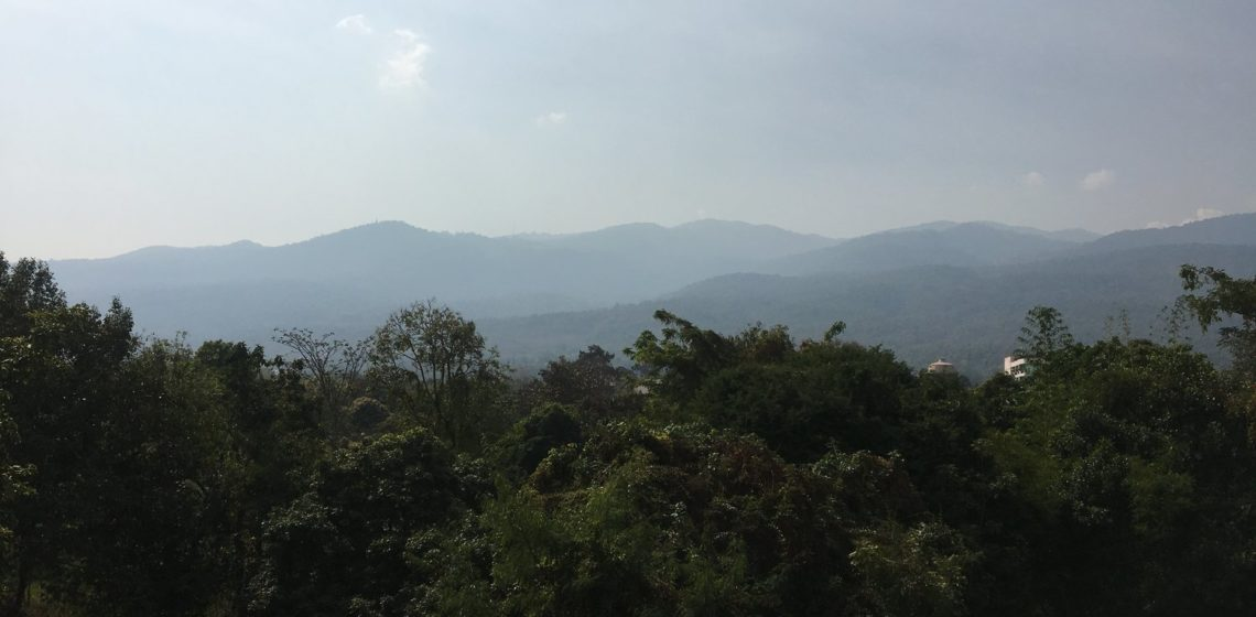 Doi Suthep Mountaint Starting To Fade Due To The Smoke