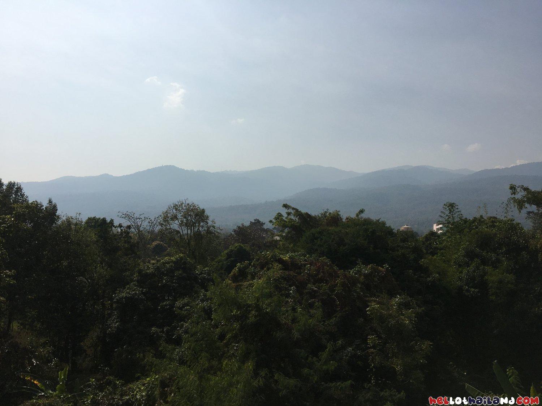 Doi Suthep Mountaint Starting To Fade Due To The Smoke